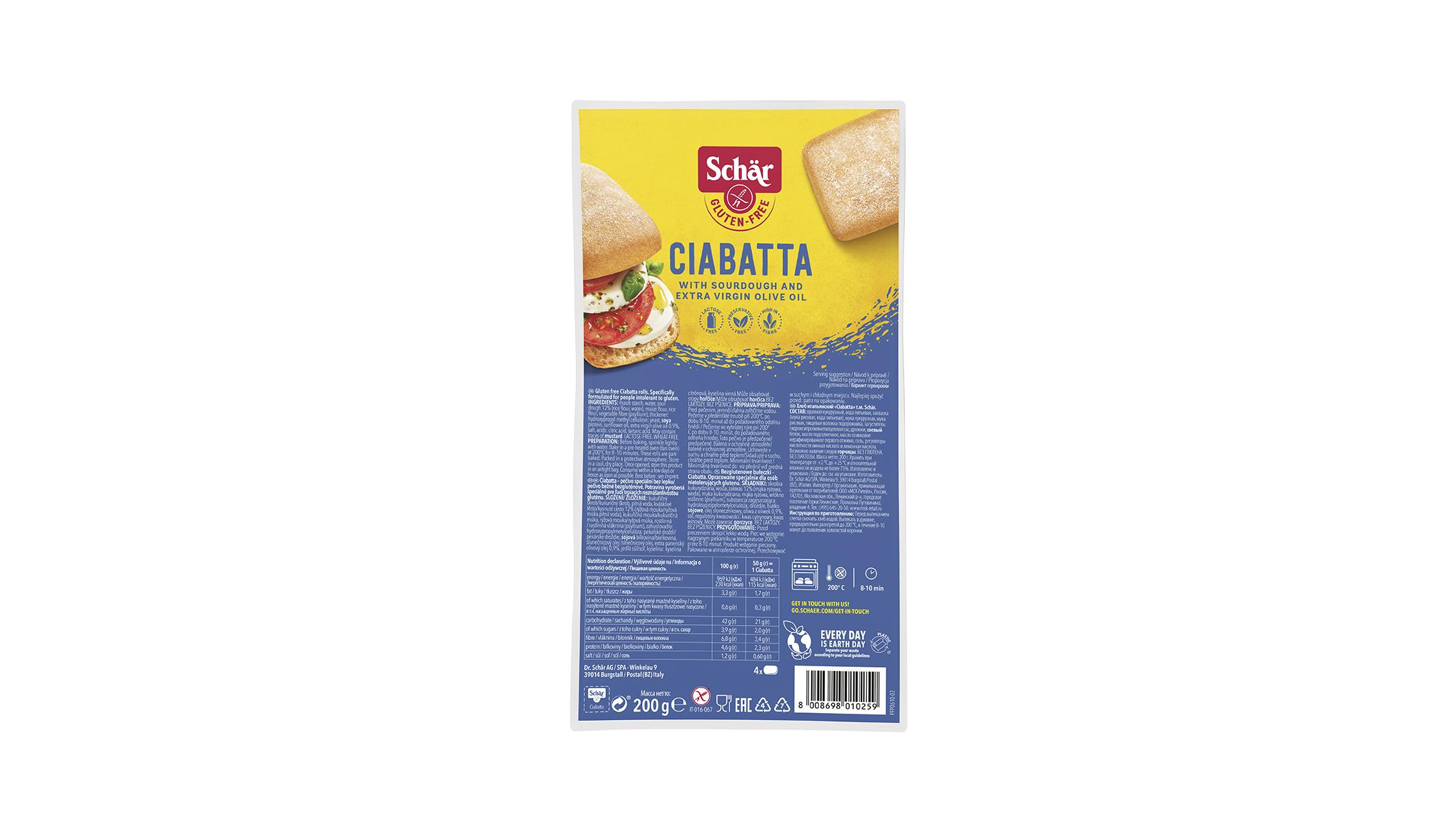 Ciabatta - Elősütött zsemlék